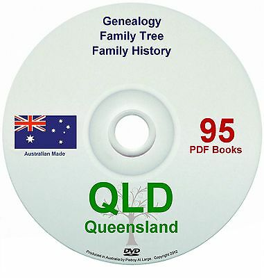 Family History Tree Genealogy Queensland old books DVD