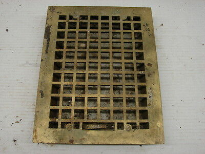 Vintage 1920S Cast Iron Heating Grate Square Design 13.75 X 10.75 B