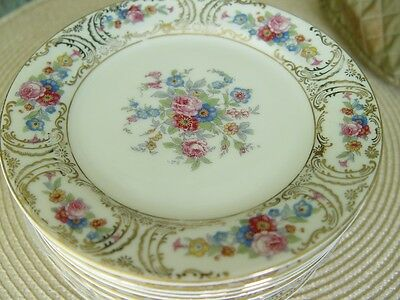 KPM Royal Ivory Queens Rose Bread & Butter Plates (8)