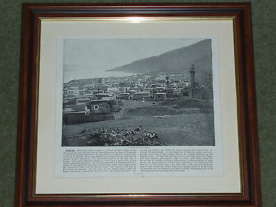1895 Print over 100 years old Ramleh Suburb Alexandria (also available unframed)