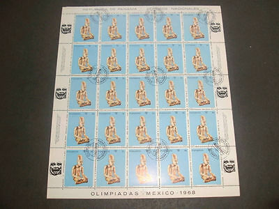 Panama 1968 Olympic Games 8c Full Complete Sheet #S114
