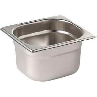Gastronorm Pans 1/6 Stainless Steel 65mm, 100mm, 150mm