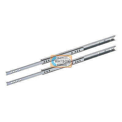 17mm Depth Grooved Ball Bearing Draw Drawer Runners Slides 251mm - 400mm