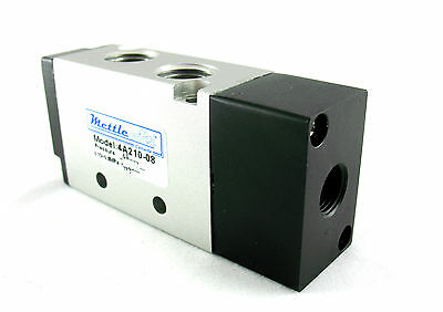 "1pc 5 Ports 4 Way 2 Position Piloted Pneumatic Valve 1/4"" NPT MettleAir 4A210-08"
