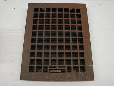 Antique Cast Iron Heating Grate Square Design 13.75 X 11 A