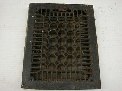 Antique Late 1800'S Cast Iron Heating Grate Honeycomb Design 14 X 10.75