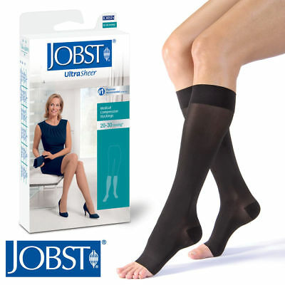 6fff4fe4a3b Petite Women UltraSheer Compression Knee Stockings 20-30 mmhg Open Toe  Supports
