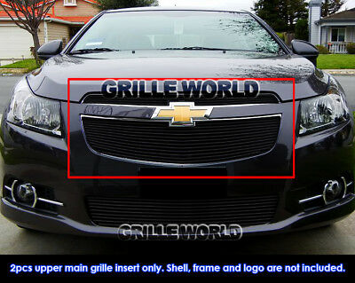 For 2011-2014 Chevy Cruze Black Billet Grille Grill Insert