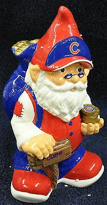 Chicago Cubs Garden Gnome Coin Piggy Bank NEW MLB!