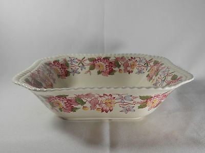 Spode Aster-Red Pattern 2/8130 Square Vegetable Bowl