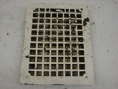Vintage 1920S Cast Iron Heating Grate Square Design 13.75 X 10.75 E