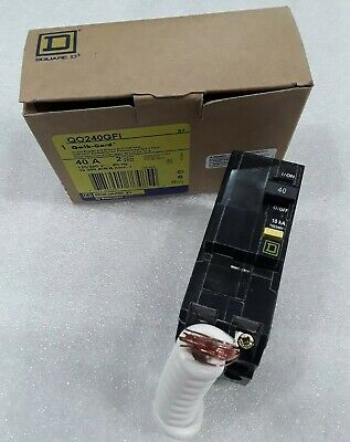 Square D Qo240Gfi New In Box Ground Fault Plugin Circuit Breaker 2P 40A 120/240V