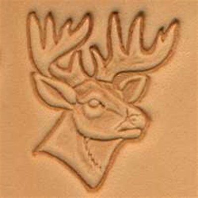 Deer Head 3D Stamp 88341-00 by Tandy Leather