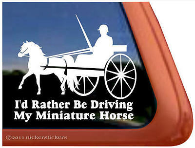 MINIATURE HORSE DRIVING ~ Quality Vinyl Horse Trailer Window Decal Sticker