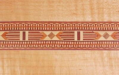 "Amazing ""Southwest""  Marquetry Banding Strips by Buffard Frères (Inlay-48)"