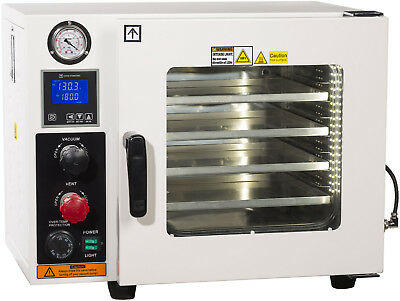 Ai 5 Sided 0.9 CF 110V Vacuum Oven w/ St St Tubing Oil-Fill Gauge 2-Yr Warranty