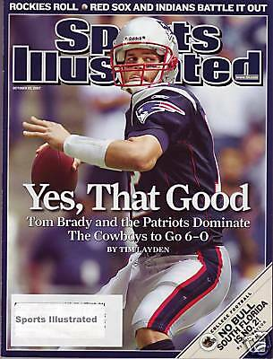 Sports Illustrated 2007 New England Patriots QB Tom Brady Subscription Issue Exc