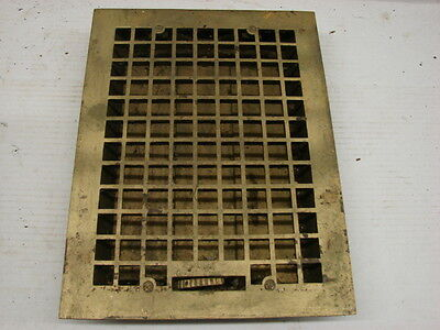 Vintage 1920S Cast Iron Heating Grate Square Design 15.75 X 12 D