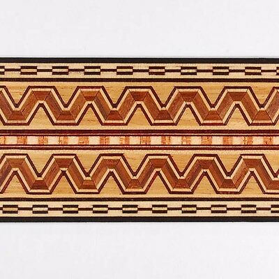 """Amazing 2"""" Egyptian Marquetry Banding Strips by Buffard Frères (Inlay-37)"""