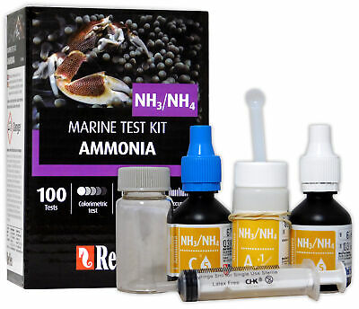 Red Sea Ammonia Test Kit Nh3 Nh4 Marine Care Program Fish Coral Tank
