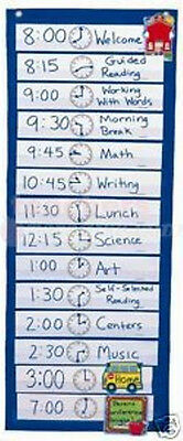 SCHEDULING POCKET CHART CD-5615 BRAND NEW
