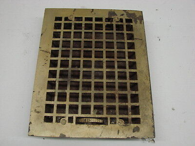 Vintage 1920S Cast Iron Heating Grate Square Design 13.75 X 11 B
