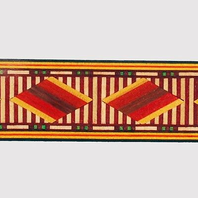 Highly Polycromatic Egyptian  Marquetry Banding by Buffard Frères (Inlay-9)