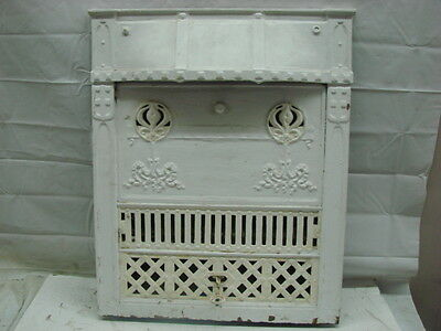 Antique Late 1800's Cast Iron Ornate Gas Fireplace Insert C