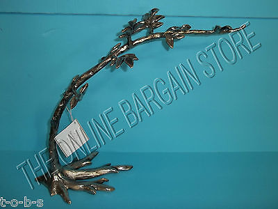 Pottery Barn Figurative Silver Tree Branch Jewelry Stand Holder Necklace box