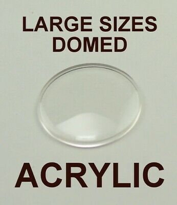 1x LARGE sized domed watch crystal acrylic 35mm - 40mm repairs plastic glasses