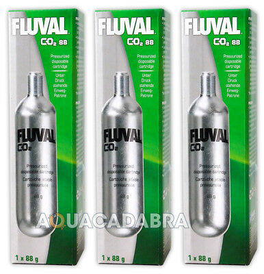 3 x FLUVAL PRESSURISED CO2 DISPOSABLE CARTRIDGE #A7546 FISH TANK AQUARIUM