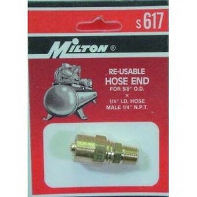 Milton S617 Reusable Brass Air Hose Fitting 1/4 X 5/8