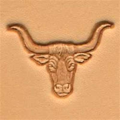 Longhorn 3D Stamp 88438-00 New by Tandy Leather