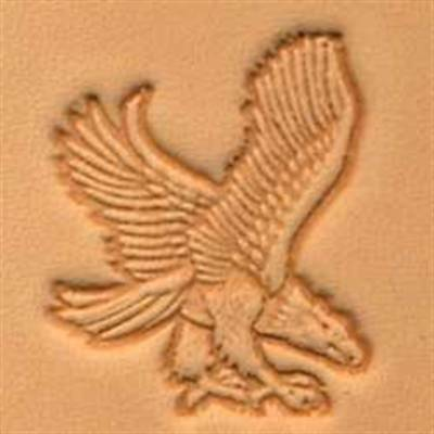 Eagle In Flight Rt View 3d Stamp 88301-00 by Tandy Leather
