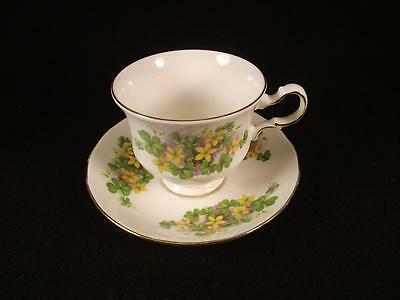 Queen Anne 8615 Yellow Flowers Teacup and Saucer