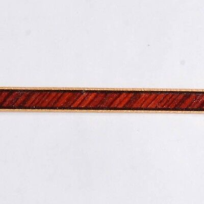 """3/10"""" Slanted Kingwood -- Frères Marquetry Banding Strips (Inlay-88)"""