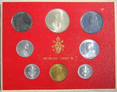 VATICAN, Paul VI: scarce 1964 1-yr type 8-coin set with silver 60K issued; BU