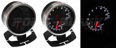 60mm Electronic Water Temperature Gauge - White Backlit Defi/JDM Style