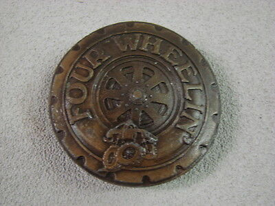 Vintage 1978 Indiana Metal Craft Four Wheelin Belt Buckle