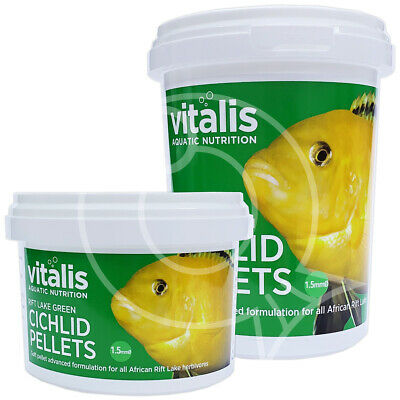 VITALIS  RIFT LAKE GREEN CICHLID PELLETS 1.5mm SMALL FISH FOOD MALAWI AQUARIUM