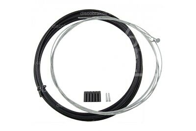 Full Bike Brake Cable Kit for Front and Rear in Black. 3m Outer, 2x Inner Cables