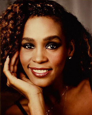 American Singer WHITNEY HOUSTON 8x10 Photo Singing Celebrity Actress Color Print