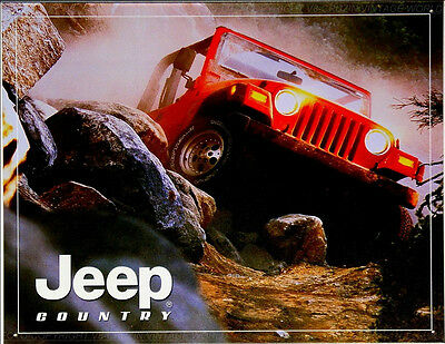 * Classic Jeep Willy`s Werbung 4x4 Off-Road USA Poster Reproschild  *477