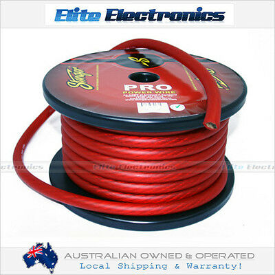 STINGER 1/0 AWG GAUGE PRO SERIES RED AMPLIFIER POWER CABLE WIRE SPW10TR
