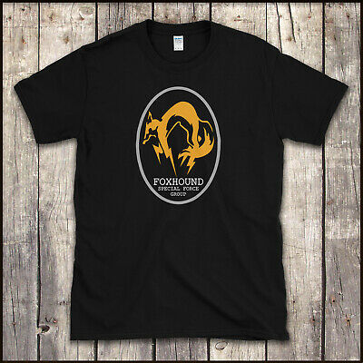 METAL GEAR SOLID - FOXHOUND SPECIAL FORCE GROUP T SHIRT Video Game XBox PS4