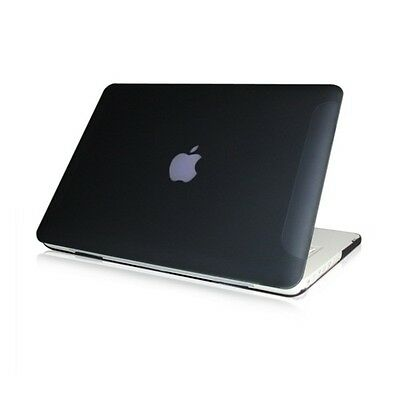 "NEW Rubberized Black Hard Case Cover for Macbook White 13"" A1342"