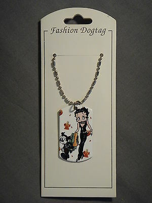 Betty Boop With Bimbo Dog Tag Necklace Set Of 7 Clearance
