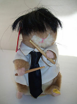 Gemmy Dancing Hamster Buddy Drummer EAR TAG You Say Its Your Birthday Beatles Wk
