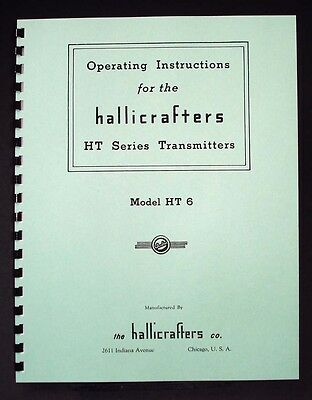 Hallicrafters HT6 HT-6 Transmitter manual