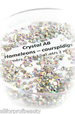 Swarovski Flat Back Gems CRYSTAL AB 6 Sizes Eyelash Nail & Body Design EU Seller